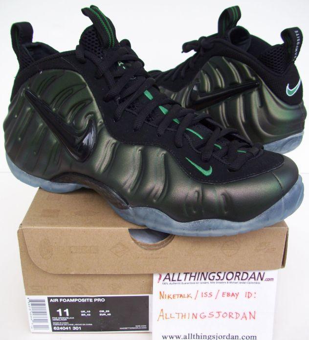 6b9ccc3a4b45d Nike Air Foamposite Pro PINE FOAMS (Pine green Black) 624041 301 ...