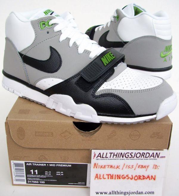 on sale d13aa b559d Nike Air Trainer 1 Mid Premium (White Black-Ntrl grey-Chlorophyll ...