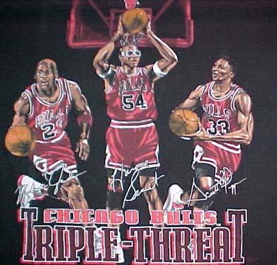 Chicago Bulls Triple-Threat tee Jordan